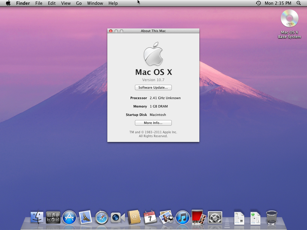 mac osx 10 7  lion  on vmware
